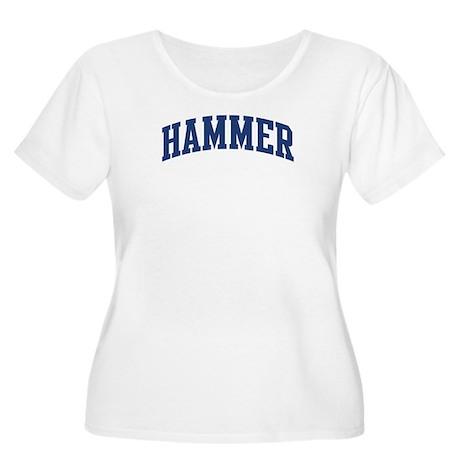 HAMMER design (blue) Women's Plus Size Scoop Neck