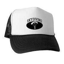 Skydiving (BLACK circle) Trucker Hat