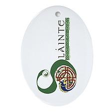 Slainte Celtic Knotwork Oval Ornament