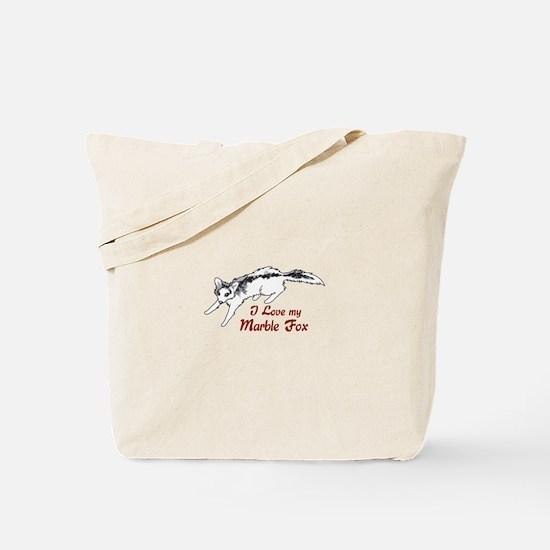 I Love My Marble Fox Tote Bag