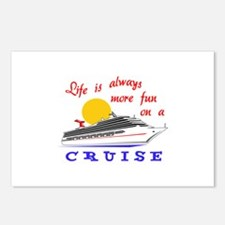 More Fun On A Crusie Postcards (Package of 8)