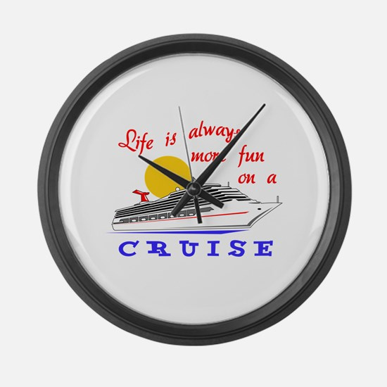 More Fun On A Crusie Large Wall Clock