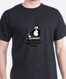 World's Greatest Dad Penguin T-Shirt