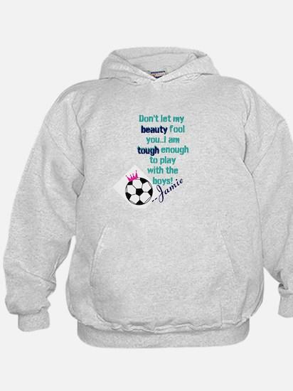 Soccer Princess Girl Hoodie