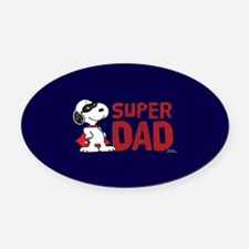 Super Dad Oval Car Magnet