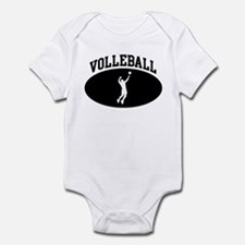 Mens Volleyball (BLACK circle Infant Bodysuit