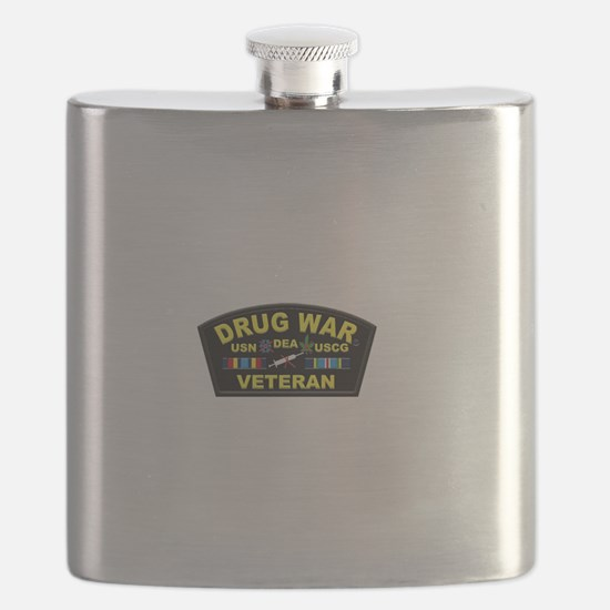 Drug War Veteran Flask