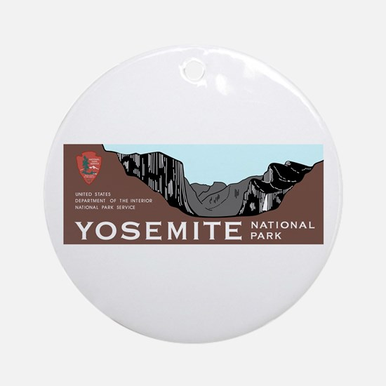 Yosemite National Park, California Round Ornament