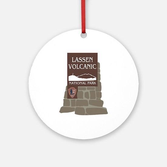 Lassen Volcanic National Park, Cali Round Ornament