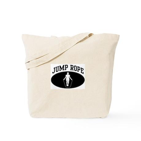 Jump Rope (BLACK circle) Tote Bag