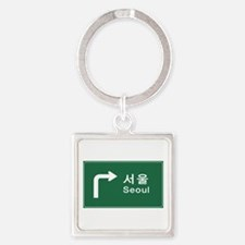 Seoul, South Korea Square Keychain