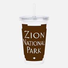 Zion National Park, Ut Acrylic Double-wall Tumbler