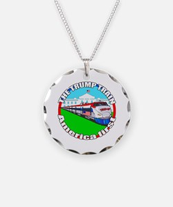 Trump Train America First Necklace Circle Charm