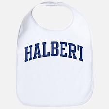 HALBERT design (blue) Bib