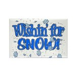 Wishin' For Snow Rectangle Magnet