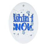 Wishin' For Snow Oval Ornament