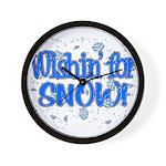 Wishin' For Snow Wall Clock