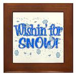 Wishin' For Snow Framed Tile