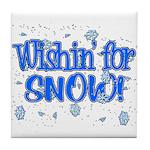 Wishin' For Snow Tile Coaster