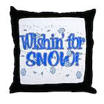 Wishin' For Snow Throw Pillow
