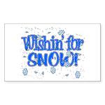 Wishin' For Snow Rectangle Sticker