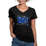 Wishin' For Snow Women's V-Neck Dark T-Shirt