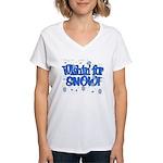 Wishin' For Snow Women's V-Neck T-Shirt