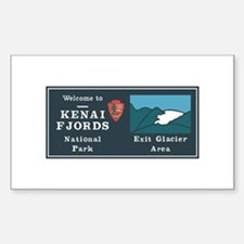 Kenai Fjords National Park, Al Sticker (Rectangle)