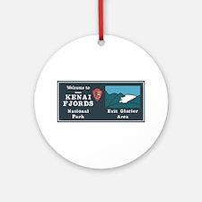 Kenai Fjords National Park, Alaska Round Ornament