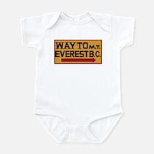 Way to Mt. Everest B. C., Nepal Infant Bodysuit