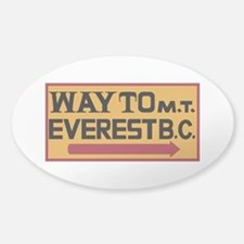 Way to Mt. Everest B. C., Nepal Sticker (Oval)