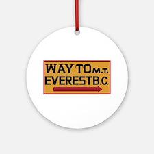 Way to Mt. Everest B. C., Nepal Round Ornament