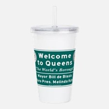 Welcome to Queens, NYC Acrylic Double-wall Tumbler