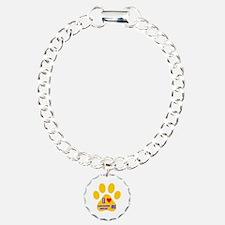 I Love Lancashire Heeler Charm Bracelet, One Charm