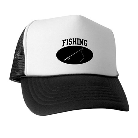 Fishing (BLACK circle) Trucker Hat
