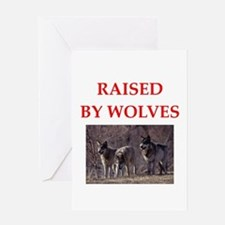 wolves Greeting Cards