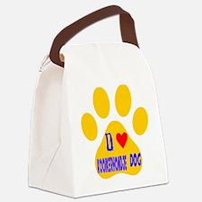 I Love Kooikerhondje Dog Canvas Lunch Bag