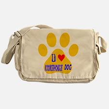 I Love Kooikerhondje Dog Messenger Bag