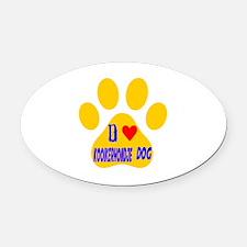 I Love Kooikerhondje Dog Oval Car Magnet