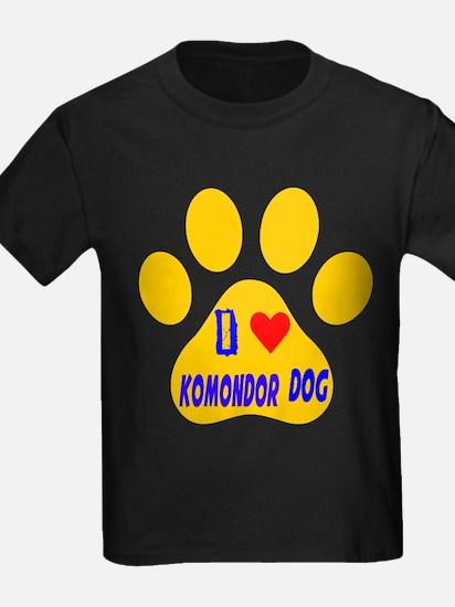 I Love Komondor Dog T