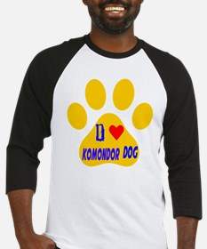 I Love Komondor Dog Baseball Jersey