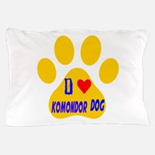 I Love Komondor Dog Pillow Case