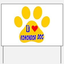 I Love Komondor Dog Yard Sign
