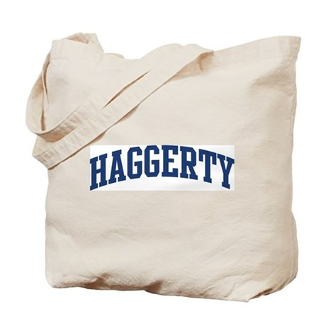HAGGERTY design (blue) Tote Bag
