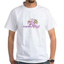 """Angelfox"" white tee-shirt"