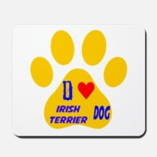 I Love Irish Terrier Dog Mousepad