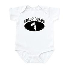Color Guard (BLACK circle) Infant Bodysuit