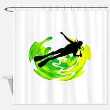 SCUBA Shower Curtain