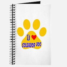 I Love Goldador Dog Journal