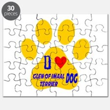 I Love Glen of Imaal Terrier Dog Puzzle